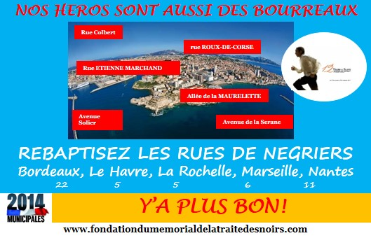 Marseille, port négrier, assume ton histoire – Conférence de presse, devant l'Hotel de Ville de Marseille, 20 mars à 17h