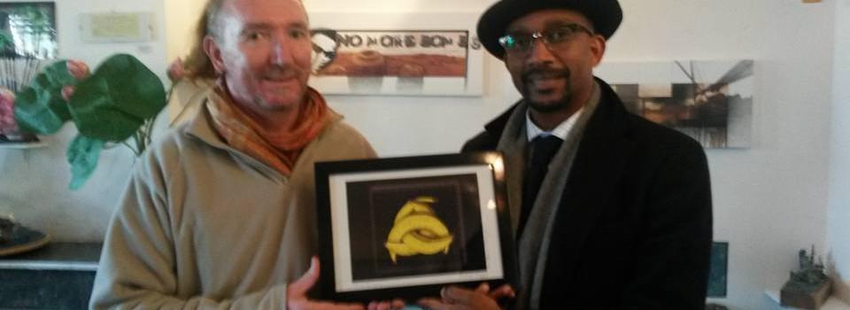 L'ARTISTE Christophe Trépier rend hommage à l'Afrique