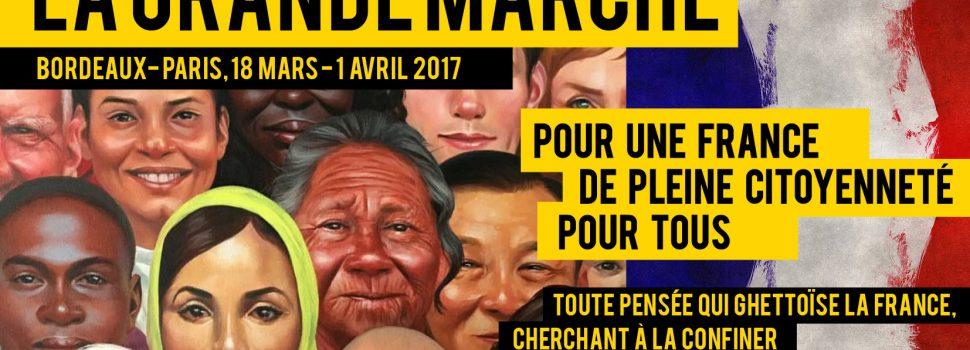 «PLEINE CITOYENNETÉ POUR TOUS»- Grande Marche, Bordeaux-Paris, 18 mars-01 avril
